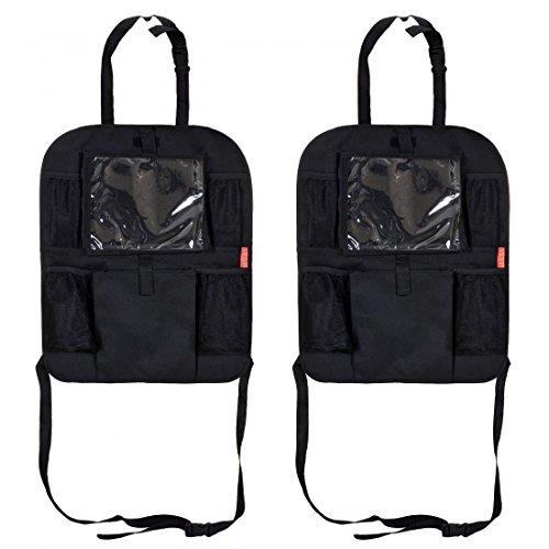 Preisvergleich Produktbild 2er Set LCP Kids Auto Frontsitz Rückenlehnenschutz und Kindersitz Organizer mit Klarsichtfach für Tablet PC Pad