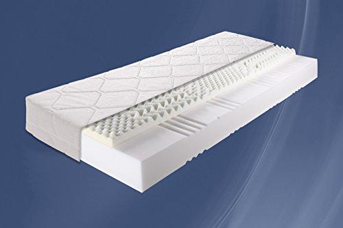 22cm - Sensation Dreams von Breckle produziert für PaoloCollaner Memory 7 Zonen Visco - Schaum Matratze mit Aloe Vera Bezug, Härtegrad 2 -- (180x200 cm)