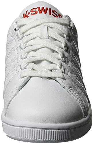K-Swiss Lozan Iii Tt, Sneakers Basses Homme Blanc (White/fiery Red)