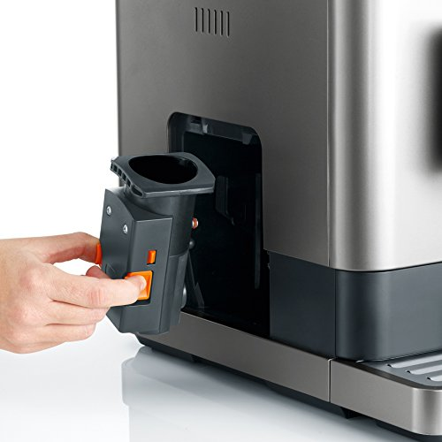Severin KV 8090- Macchina da caffè automatica, grigio metallizzato/nero