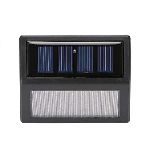 Solarleuchte, ABEDOE 6 LED Outdoor Solar Lampe IP56 Wasserdicht Solar Nachtlicht Veranda Weg Straße Notfall Wandleuchte Zaun Gartentreppe Wand Korridor Wandleuchte