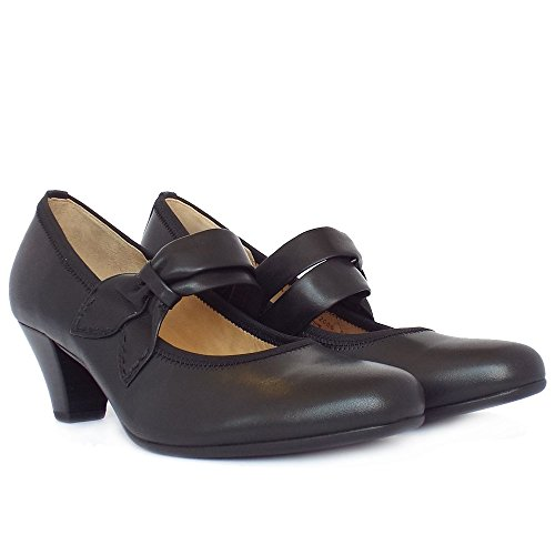Gabor Coltrane Casual Mary-jane Corte Scarpe Da Donna In Nero Black
