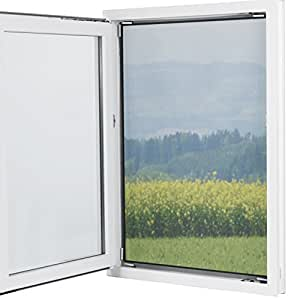 Fenster-Moskitonetz mit Magnetbefestigung 150 x 130cm (Zuschneidbar)