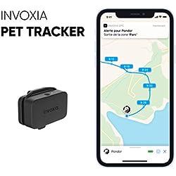 Invoxia - Pet Tracker - Mini Traceur pour Chat et Chien avec Suivi d'Activité Bien-être et Zone GPS - Longue Autonomie