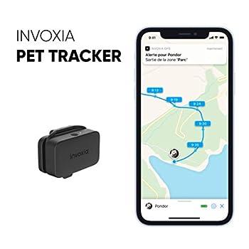 Invoxia Pet Tracker - Traceur GPS pour Chats Et Chiens avec Suivi D'activité - Abonnement Inclus - Plusieurs Mois D'autonomie - Léger Et Petit