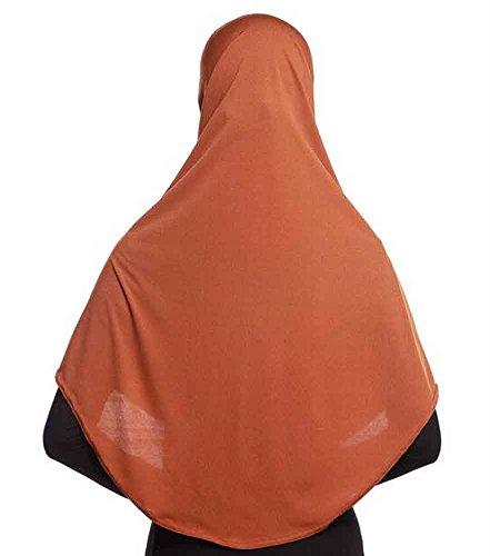 Gute Form, Breathable, Anti-Falten Lange Frauen Hijab [Braun] Braun Muslimische Hochzeit Kleider