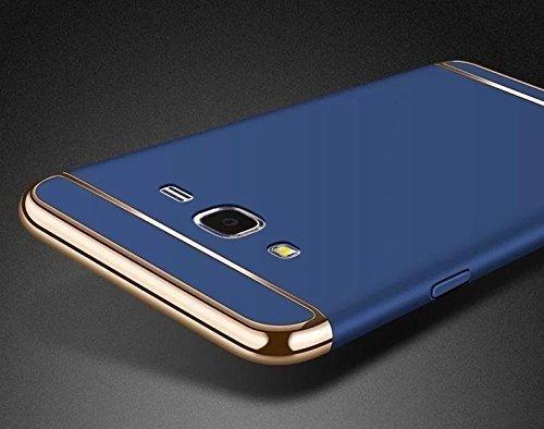 Mezmo New Chrome 3 IN 1 360º Anti Slip Super Slim Luxury Full body Protective Back cover for Samsung Galaxy J2 Pro - Blue