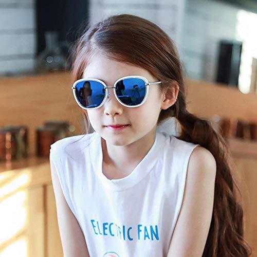 CYCY Kinder Sonnenbrille Baby Brille Jungen Sonnenbrille mädchen Sonnenschirm Harz objektiv komfortable Anti-uv Baby Sonnenbrille schwarz blau, dunkel eisblau + weißer Rahmen