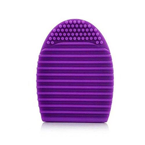 Pinceaux Maquillage, Koly Gant De Nettoyage MakeUp Brosse De Lavage Laveur Conseil CosméTique Clean Violet Fonce