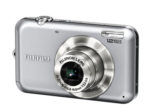 Fujifilm Finepix JV100 Digitalkamera (12 Megapixel, 3-fach opt.Zoom, 6,9 cm Display) silber
