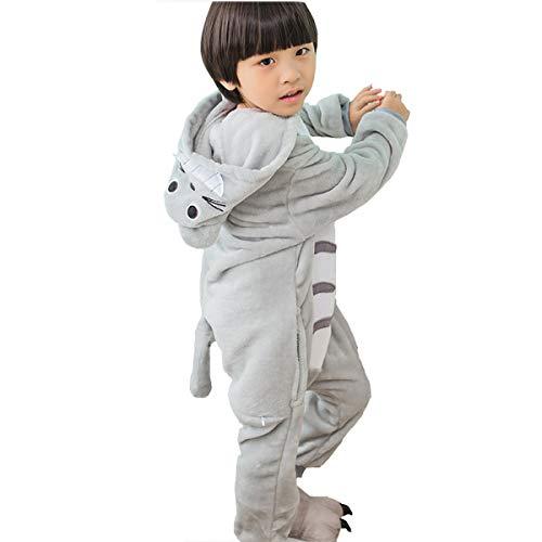Pyjamas Kinder Tier-Schlafanzug Jumpsuit Nachtwäsche-Plüsch Einteiler Overall-Halloween Karneval - Totoro Kostüm Frauen