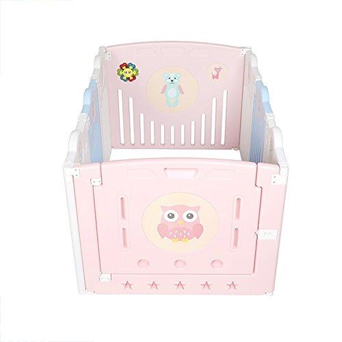 ZR- Baby Playpen Kids Centre D'activités De Sécurité Play Yard Accueil Intérieur Extérieur Nouveau Stylo -Sécurité (Couleur : A, Taille : 6 Tablets+Game Bar+Door Bar)