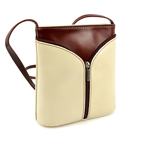 364184e3c73cf ... Vera Pelle Handtaschen Italien Echt Leder Schultertasche Frauen Damen  Tasche Handtasche Ital Bag Beige Braun Plain