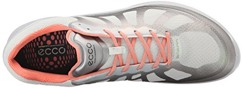 ECCO - Biom Fjuel Ladies, Scarpe sportive outdoor Donna Multicolore(Silver Metallic/Sha.White/Coral 59541)