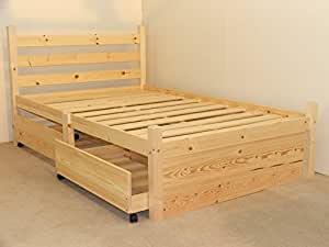 wood bed frame with drawers pine bed with four storage drawers heavy duty for 20164