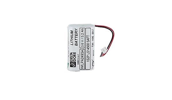 double technologie 6416227/ /Bloc de piles lithium pour d/étecteur de mouvement Double Objectif d/étecteur de mouvement ext/érieur et barri/ère jardin Delta Dore Bat dme-dmbe-dmbd Tyxal