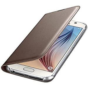 Helix Leather Flip Cover for Samsung Galaxy J2 PRO GOLD