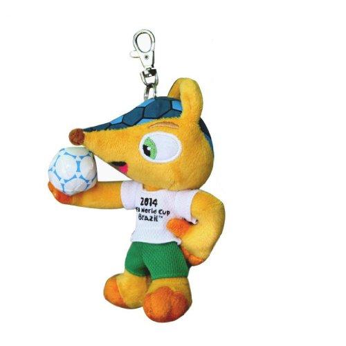 Preisvergleich Produktbild Fuleco 13 cm Plüsch mit Metall Anhänger - Das offizielle Maskottchen der FIFA Fussball-Weltmeisterschaft Brasilien 2014