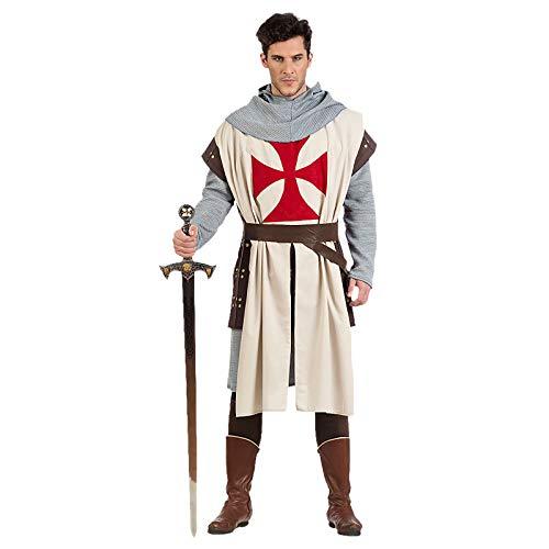 Limit Sport-mittelalterlichen Ritter Templer, Mehrfarbig (ma965) (Mens Mittelalterliche Ritter Kostüm)