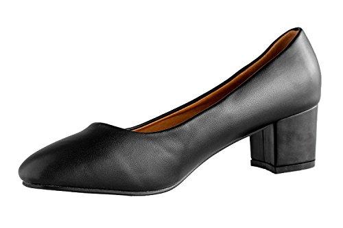 Rapidoshop - Chaussures Ballerines Grande Taille Avec Talon DM6848-1 Noir