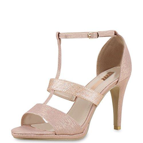 napoli-fashion , Bride cheville femme Rose Gold
