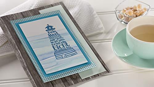 Rayher Hobby 29116000 Holzstempel Leuchtturm, 5 x 10 cm, Textstempel für Einladungen bei Hochzeit, Taufe, Kommunion, Konfirmation, Butterer Schrift-Stempel