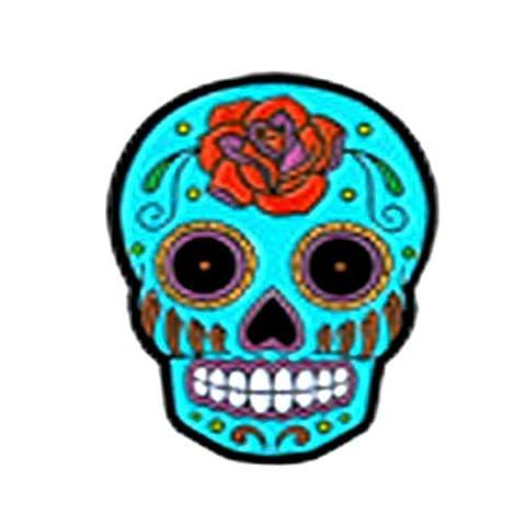 "Sunny Buick Rose Sugar Skull, Licensed Original Artwork, Expertly Designed ENAMEL PIN - 1.25"""