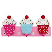 Gisela Graham Cupcake Hooks Peg Rail Girls Bedroom Accessory