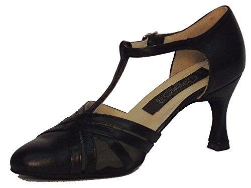Vitiello Dance Shoes  Standard rete nero, Damen Tanzschuhe Schwarz Nero Nero