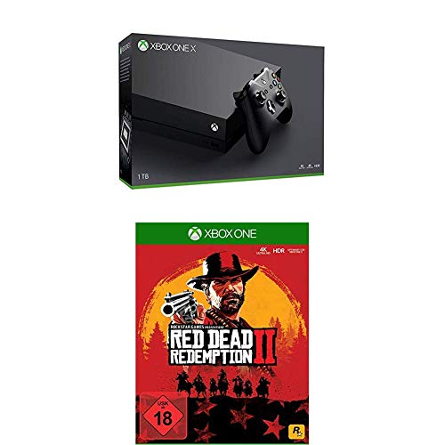 Microsoft Xbox One X Konsole [1TB , Standard Edition] + Red Dead Redemption 2 [Xbox One] + PLAYERUNKNOWN'S BATTLEGROUNDS [Xbox One]
