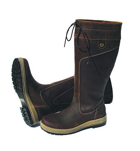 Rhinegold Elite Vermont Stivali in pelle con membrana impermeabile, stabili e con ampia circonferenza del gambale, adatti per camminare in campagna, Brown, UK3