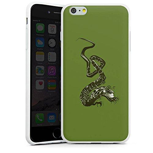 Apple iPhone X Silikon Hülle Case Schutzhülle Drache Tribal Chinesisch Silikon Case weiß