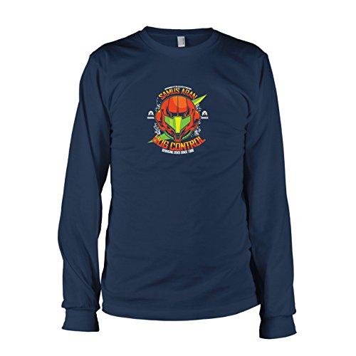 TEXLAB - Samus Bug Control - Herren Langarm T-Shirt, Größe XXL, dunkelblau