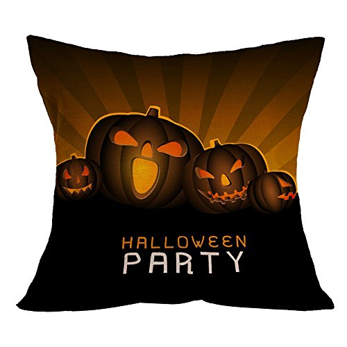 (OverDose Damen Halloween Home Cinema Kissenbezug Sofa Taille Wurf Kissenbezug Kürbis Ghosts Decor Ornamente)