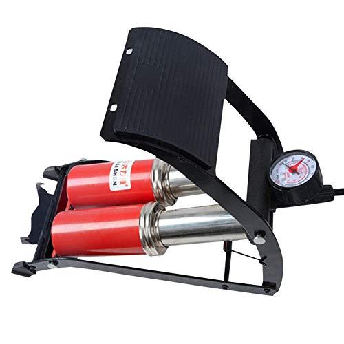 BYSK Pompe À Air De Pédale De Voiture, Pliage Portatif À Haute Pression Portatif De Mesure De Pression Mécanique Gonflable De Double Tube