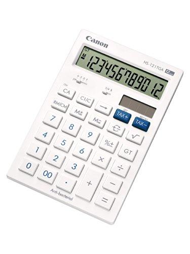 Canon HS-121TGA Taschenrechner zwölfstellig Finanzfunktionen weiß