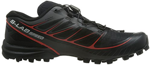 Salomon S-Lab Speed, Scarpe da Trail Running Unisex – Adulto Negro (Black / Black / Racing Red)