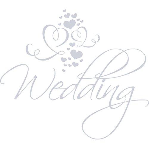 Fancy Lovely Wedding Day Love Hearts (52cm x 60cm) Choisir votre couleur 18couleurs en stock Chambre Enfant, Salle de Bain, chambre enfants Stickers, vinyle de voiture, Windows et mur sticker, mur d'art de Windows, Stickers, ornement vinyle autocollant cm