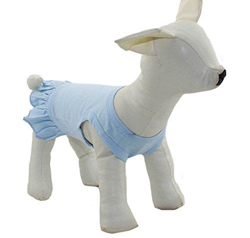 Longlongpet - Ropa para mascotas, ropa para perro pequeño, en blanco, vestido deportivo, camiseta, vestido, camiseta, camiseta, camiseta para perros de tamaño pequeño, vestido de verano para mascota, disfraz de primavera 100% algodón