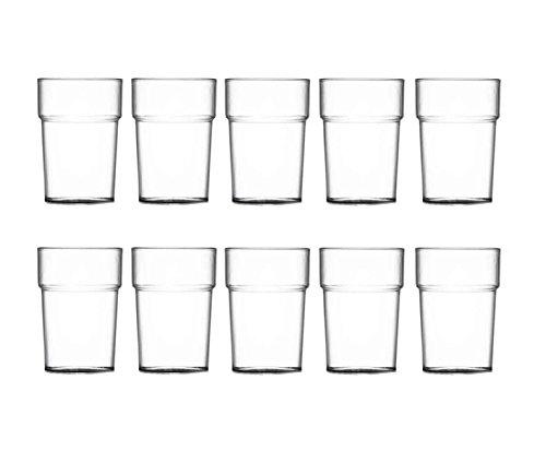 10HDIUK–Nonic Elite unzerbrechlich Polycarbonat Drink Cups (Elite-lager)