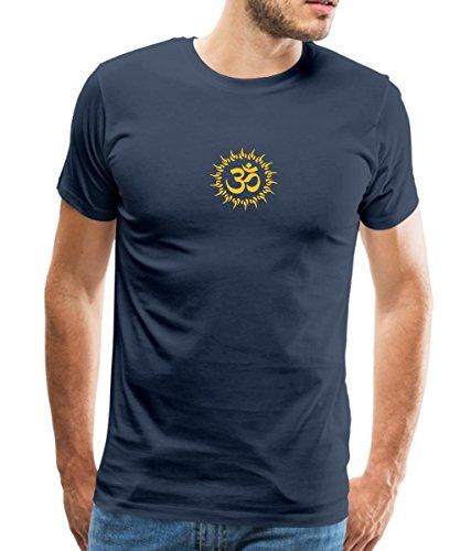 Zeichen Zeichen (Spreadshirt Yoga Om Zeichen Meditation Männer Premium T-Shirt, M, Navy)