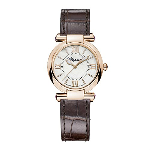 CHOPARD WOMEN'S IMPERIALE 28MM BROWN LEATHER BAND QUARTZ WATCH 384238-5001