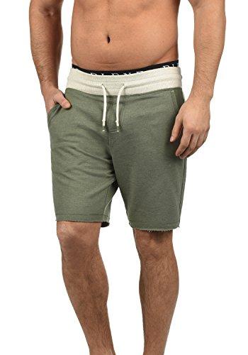 Blend Julio Herren Sweatshorts Kurze Hose Sport- Shorts aus hochwertiger Baumwollmischung Meliert, Größe:XL, Farbe:Dusty Olive Green (77203) -