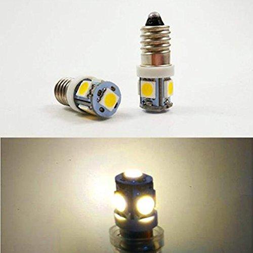 4x E106V 50505SMD 6000K/4300K MES Schraube LED Birne Kopf Lampe Innen Laterne, Warmweiß, 9 V 9v-lampe