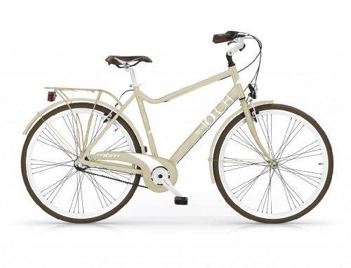 Mbm - Touch Man Bicyclette Vélo Homme 28'' H58 Trekking City Bike Ivoire