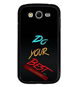 Fiobs High Glossy Designer Phone Back Case Cover Samsung Galaxy S6 Edge+ :: Samsung Galaxy S6 Edge Plus :: Samsung Galaxy S6 Edge+ G928G :: Samsung Galaxy S6 Edge+ G928F G928T G928A G928I ( Do Your Best And You will Succeed Quotes )