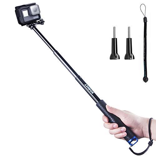 Homeet 49CM Selfie Perche Télescopique Etanche Monopode Extensible Baton Selfie Stick pour...