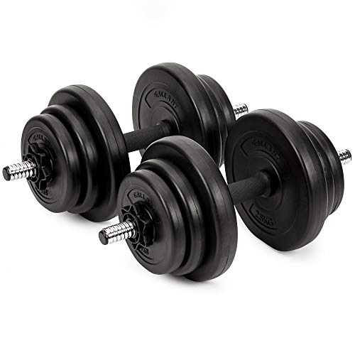 Adjustable Free Hand Weights Dumbbell Excellent for Weight Lifting Body Building Home Gym Training Equipment Barbell Bench Press Exercise TnP Fitness 20kg Dumbbells Set For Men Women