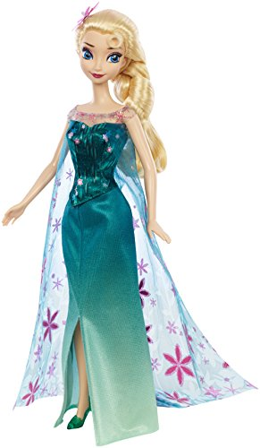 Click for larger image of Disney Frozen Fever Birthday Party Elsa Doll