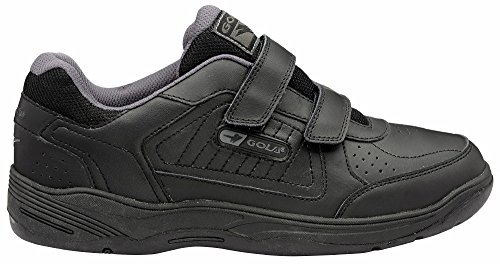 Hommes Gola Belmont Coupe Large Recouvert Baskets Cuir Noir - noir